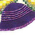 Bonnet Clochette violet femme