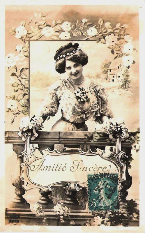 Carte amitié sincère - 24 juin 1911