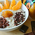 Porridge choco mandarine