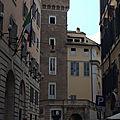 Rome étrange et curieuse 2 (12/17). Rione Ponte – 11/ La tour du <b>Singe</b> - Via dei Portoghesi.