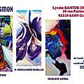 Marlene urrea - exposition - lycée santos dumont 39 rue pasteur - 92210 saint cloud