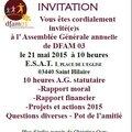 Assemblée générale de votre fédération départementale dfam 03