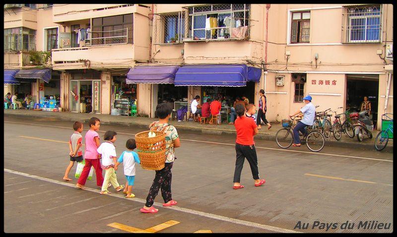 Archipel de Zhou Shan le long du port