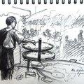Croquis - fête catalane de figueres