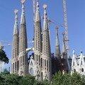 Barcelone - Sagrada familla cathédrale