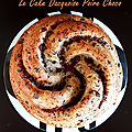 Le cake dacquoise poire choco