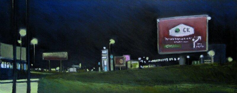 K'nowhere #10, pastel à l'huile sur papier, 65 x 38 cm