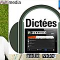 Dictées audio multimédia aucorrectives
