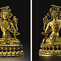 Ming dynasty <b>Bronze</b> Statues sold at Christie's New York, 19 March 2008
