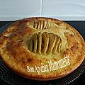 Gâteau aux pommes spirales à la faisselle et au <b>caramel</b> au <b>beurre</b> <b>salé</b>