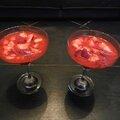 Soupe de fraises au basilic rapide