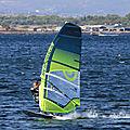 Windsurfeurs sur l'étang de Thau à Marseillan le <b>15</b> <b>août</b> 2019 après-midi