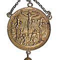 <b>Médaille</b> <b>religieuse</b> de Hans Reinhart pour Iohann Freidrich, grand électeur de Saxe. Non datée (vers 1536)