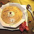 Velouté de châtaignes – chantilly aux noisettes et pancetta croustillante