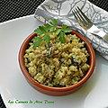<b>Quinoa</b> aux champignons, sans gluten et sans lactose