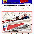 RCB - PASEO Y TOROS DU 22/12 REPORTÉ AU MARDI 29 DÉCEMBRE 16H15