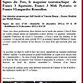 FR3 : signes du <b>toro</b> (16 dec)- <b>nîmes</b> : <b>café</b>-<b>toro</b> (1er dec)