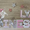 Décoration chambre de bébé lettres prénom décorées