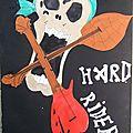 Hard Rider peinture gouache et collage