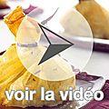 Aumônières de poulet, dattes et vanille