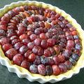 La tarte aux prunes amandine