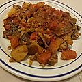 Ropa vieja ou restes du pot au feu sautés aux oignons et aux légumes
