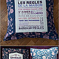 164. Housse coussin