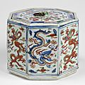 Covered octagonal box, ming dynasty, wanli period (1573-1620)