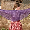 Châle peeble beach shawl