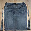Occupation confinement : réduire la largeur d'une jupe en jean