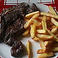 <b>Basse</b> côte de bœuf au sel fou à la plancha