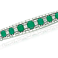 An Art Deco <b>emerald</b> <b>and</b> <b>diamond</b> <b>bracelet</b>