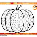 <b>Gommettes</b> ciblée Halloween