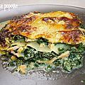 Lasagnes saumon & épinard