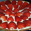 Tarte aux fraises crème pâtissière au mascarpone