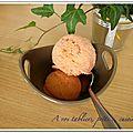 Sorbet fraise/rhubarbe