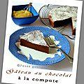 Gâteau au chocolat à la compote (recette légère)