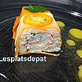 Terrines à la langoustine et kumquats