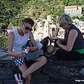 Banc forteresse du château (Vernazza, Italie, août 2016)