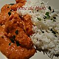 Poulet indien ou butter chicken