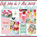 Défi carterie 346 du 7 mai 2018