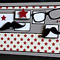 Un lift ... des moustaches ... des lunettes ... des étoiles ... une <b>carte</b> <b>porte</b>-<b>billet</b> masculine et tendance !
