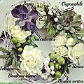Une jolie couronne-centre de table en fleurs fraîches avec truffaut {diy}
