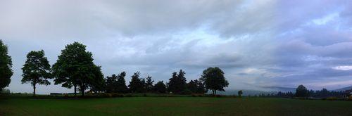 2008 06 17 Panorama du paysage pris le matin à 6h15
