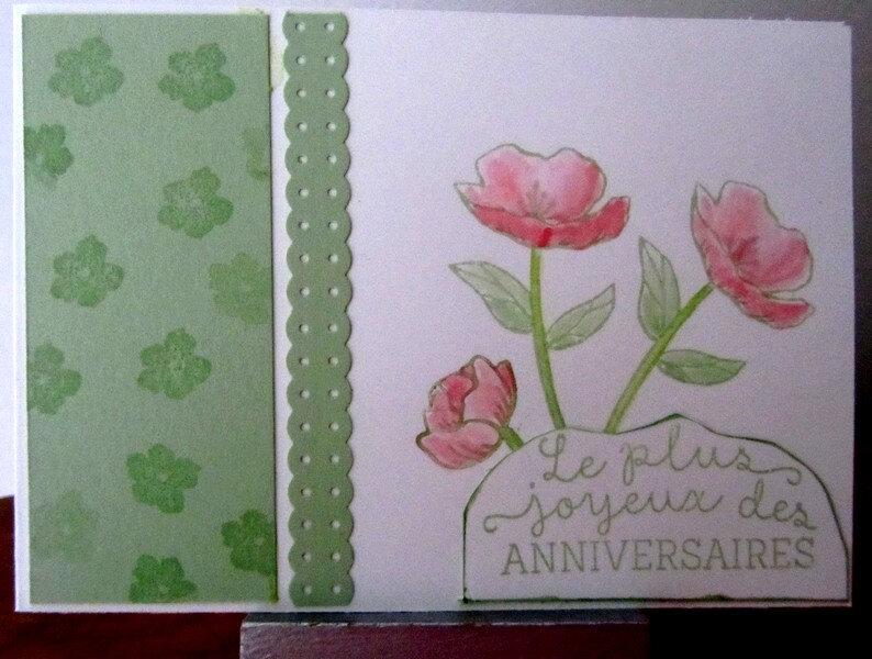 FB MAI 18 LA MIENNE avec tampons fleur d'anniversaire
