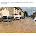 inondation dans le gard en septembre 2021 POURTANT LES SERVICES TRAVAILLENT BIEN à voir !