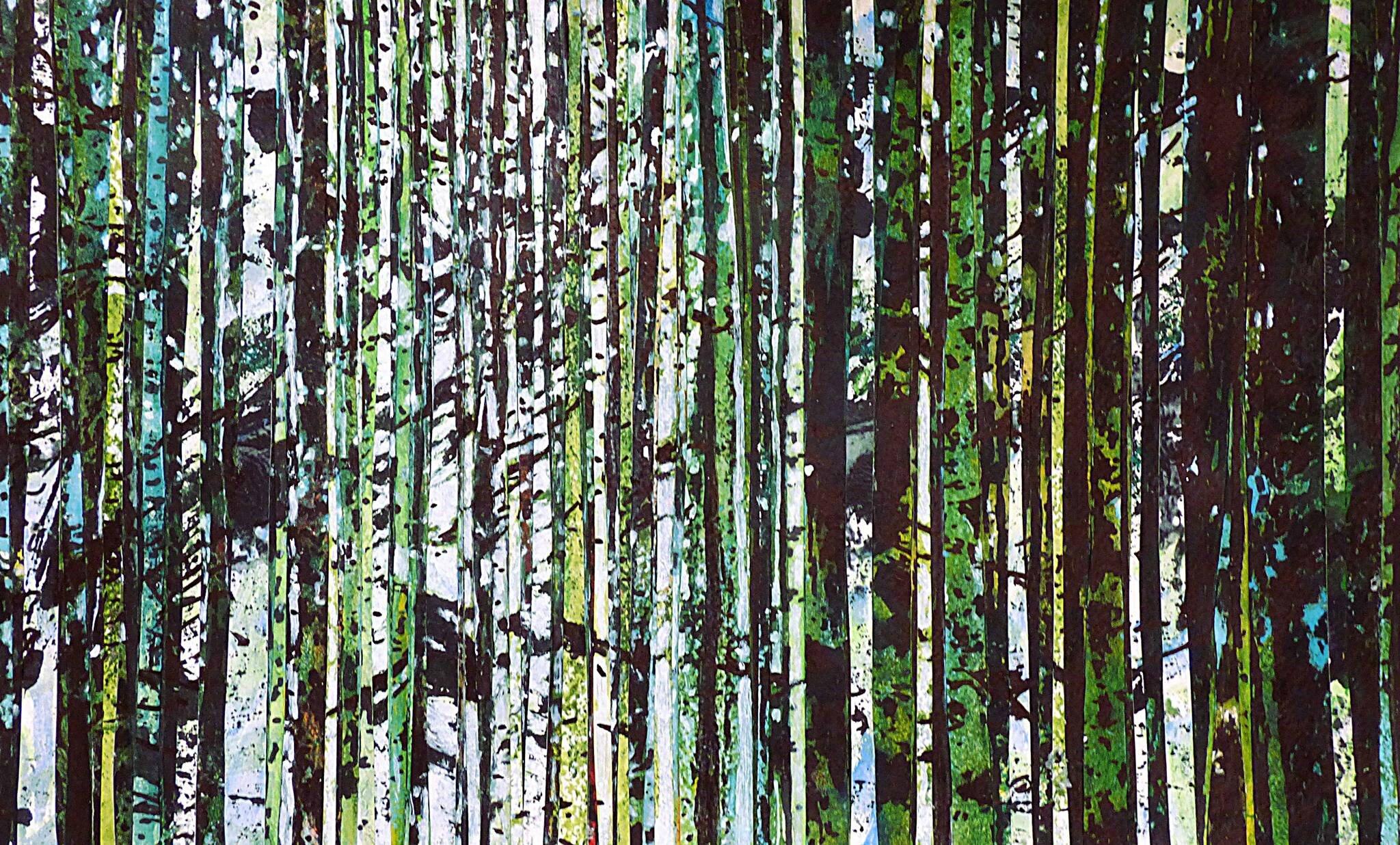 Forêt #62, techniques mixtes, août 2016, 47 x 30 cm