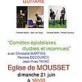 Aveyron - Eglise de Mousset : Chansons, Poésie et <b>Guitare</b>...