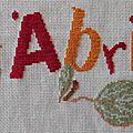 Ouvrage de l'an neuf - lili points - confiture d'abricots (03)