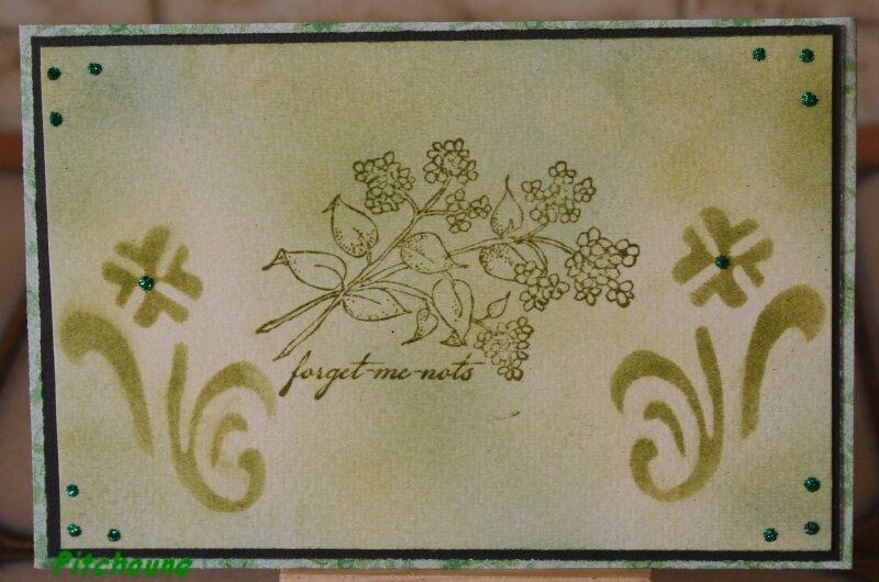 carte verte fleurs